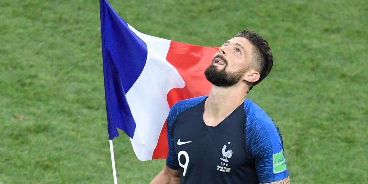 """Les Bleus champions du monde : """"Un rêve de gosse"""" pour Olivier Giroud"""