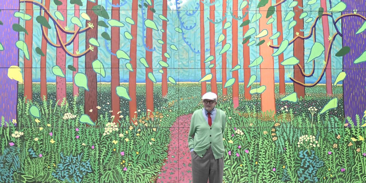 L'artiste David Hockney à Paris lors d'une exposition