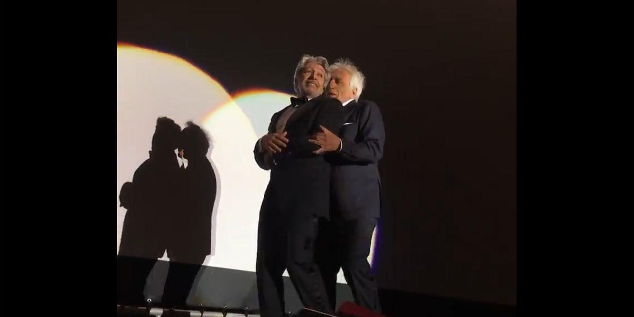 """VIDEOS - Surprise, Chabat et Darmon ont dansé la Carioca pour les 25 ans de """"La cité de la peur"""" : """"C'est..."""