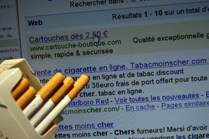 Internet le plus grand bureau de tabac du monde
