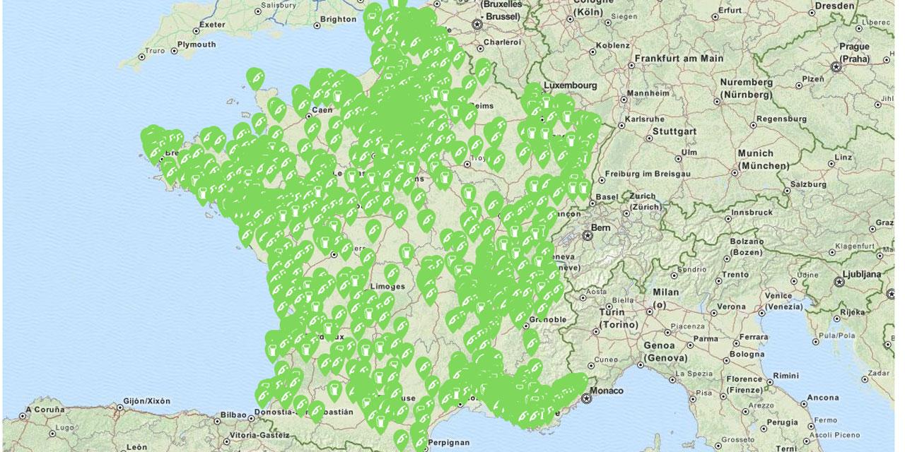 carte des stations services La carte de France des stations essence où il reste du carburant