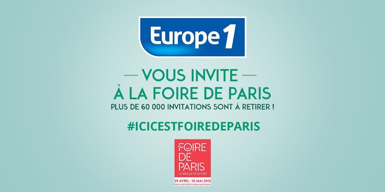 europe 1 vous invite à la foire de paris 2015
