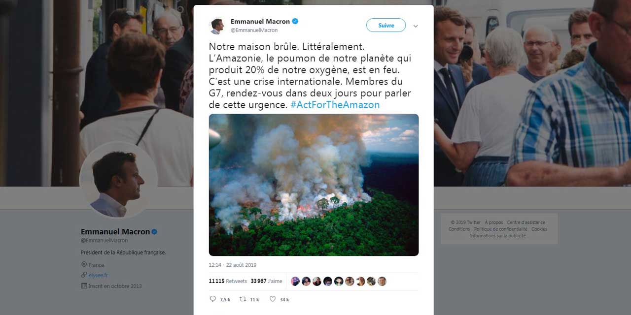 Fires In The Amazon Emmanuel Macron Tweeted A Photo Of At Least Sixteen Years Old Teller Report