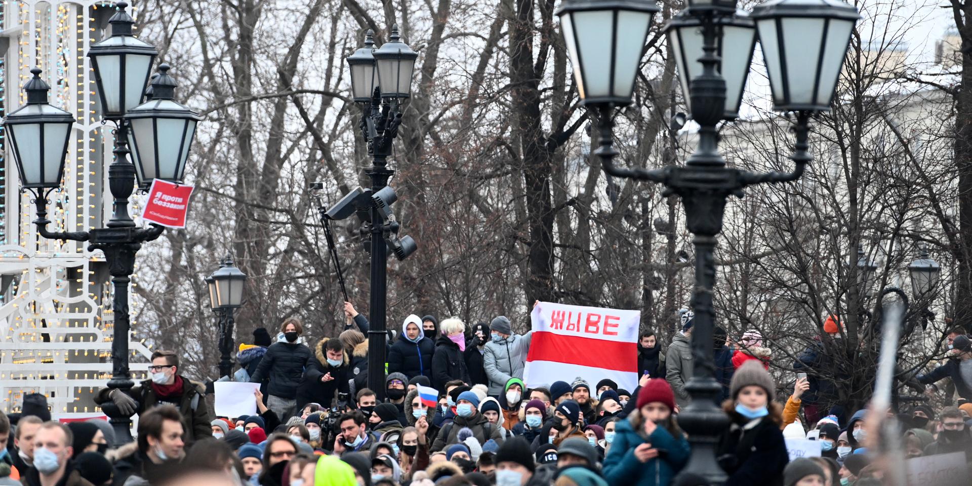 Russie : heurts et interpellations lors de manifestations en soutien à Alexeï Navalny