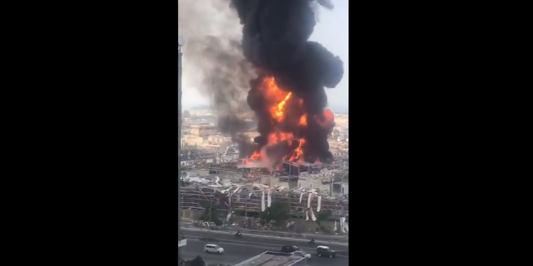 VIDEO - A gigantic fire at the port of Beirut, a few weeks after ...