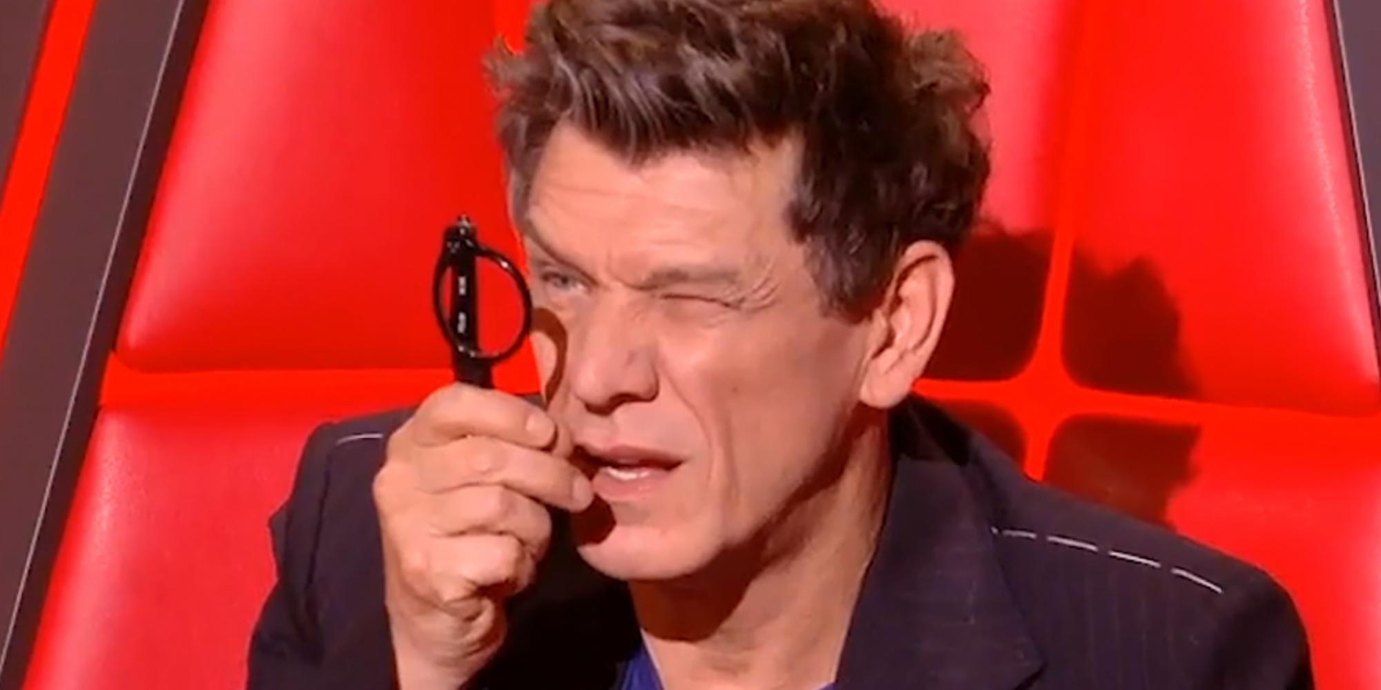 The Voice Marc Lavoine Explique Pourquoi Il Utilisait Ses Lunettes Aussi Bizarrement