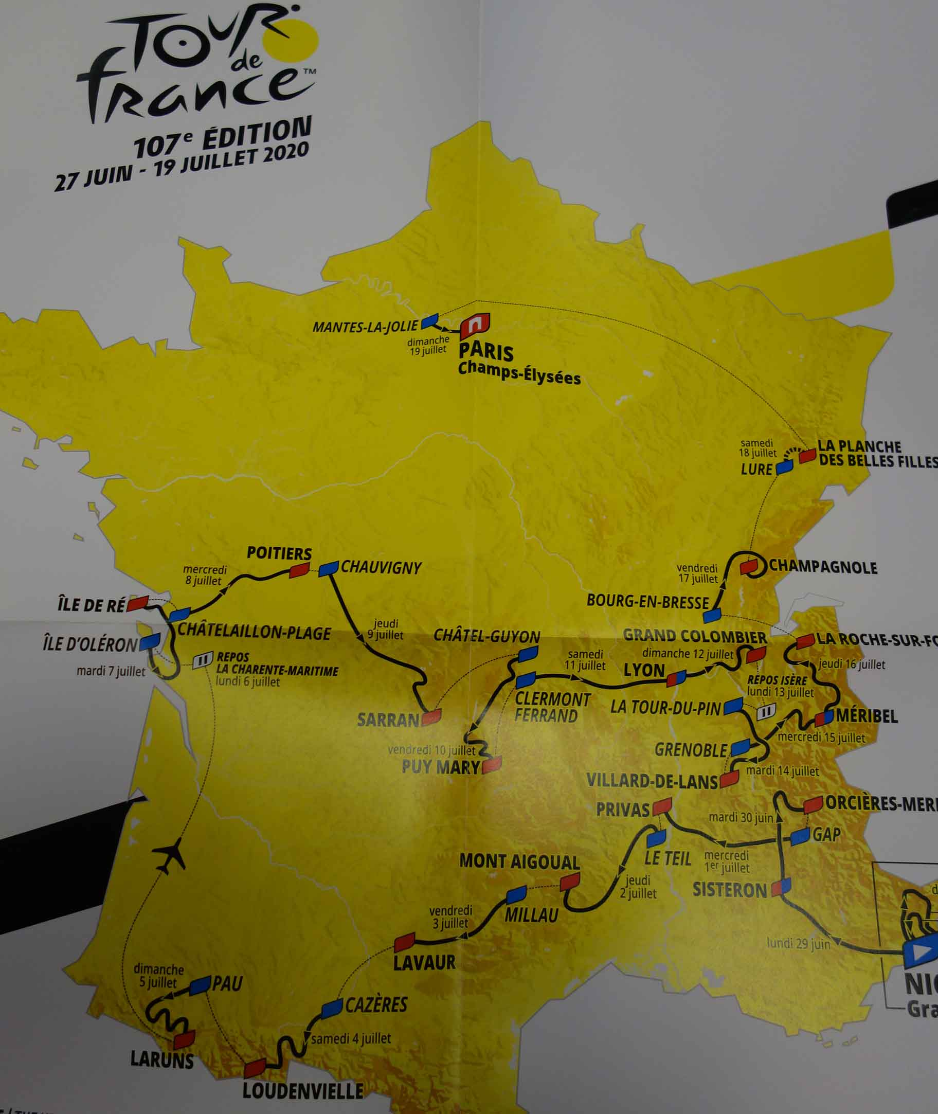 2020 Tour De France Stages.Discover The Route Of The Tour De France 2020 Teller Report