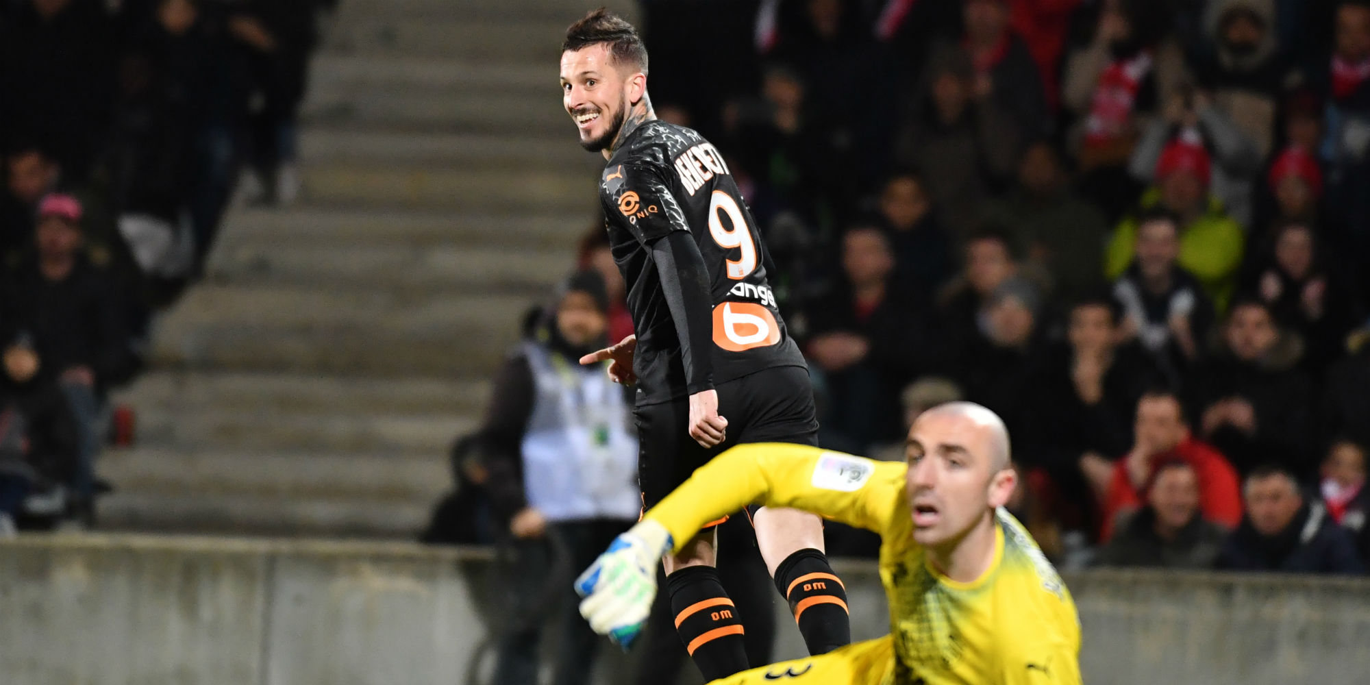 Ligue 1 Marseille Revives In Nimes Thanks To A Hat Trick From Dario Benedetto Teller Report