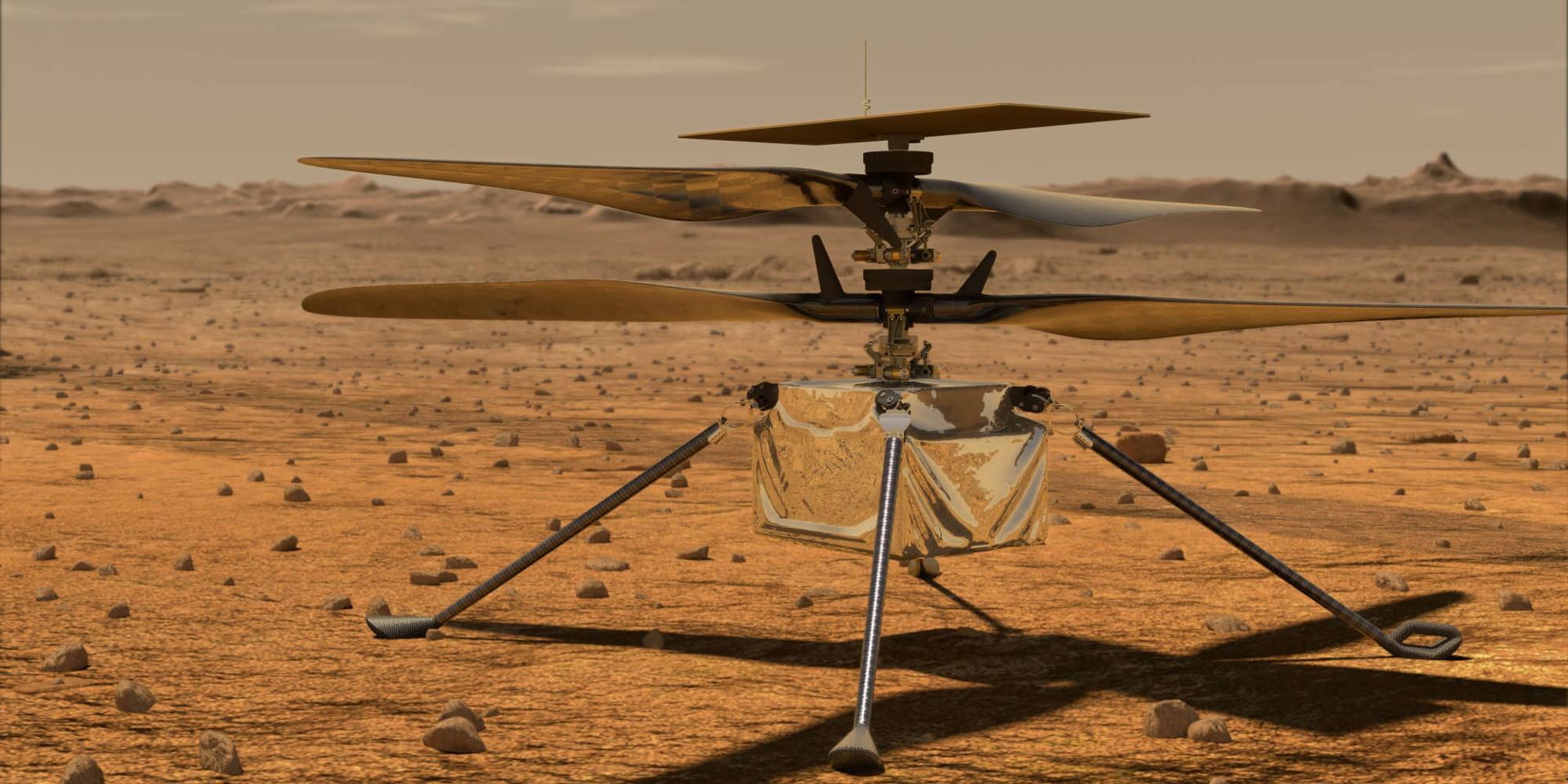 Première tentative de vol d'un hélicoptère sur Mars début avril