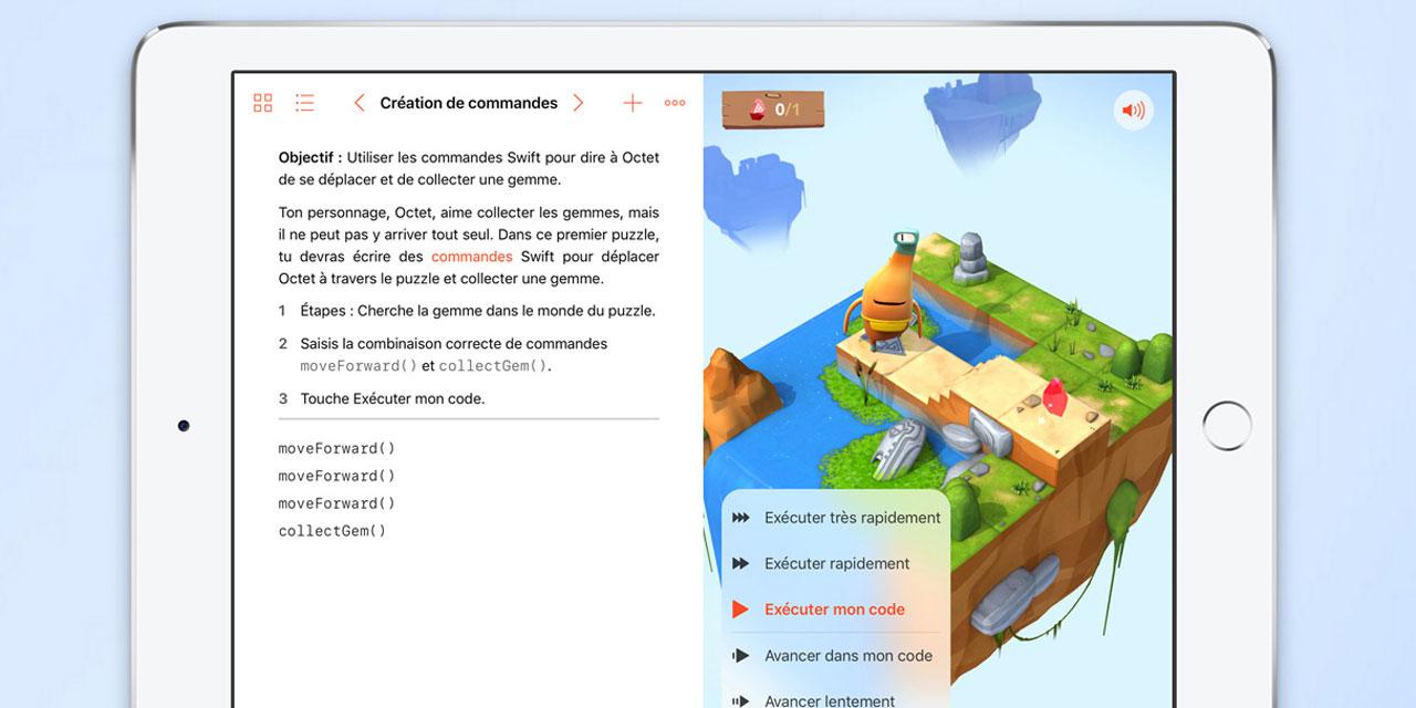 Swift Playgrounds, pour apprendre la logique du code