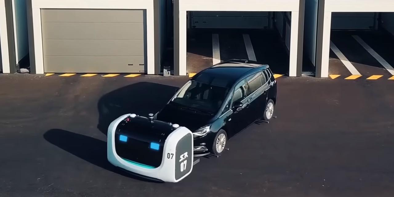 vid o l 39 a roport de lyon ce sont des robots qui vont garer votre voiture. Black Bedroom Furniture Sets. Home Design Ideas